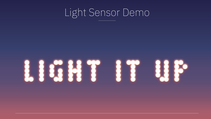 Mandy Michael's light sensor demo