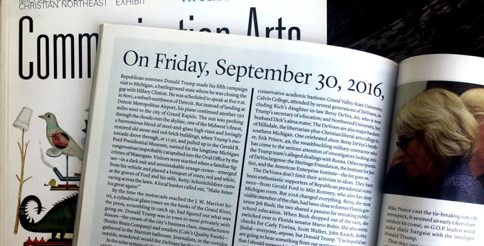 Two-column article layout