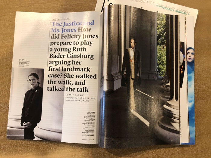 Article title spread from Vanity Fair (3 of 4)