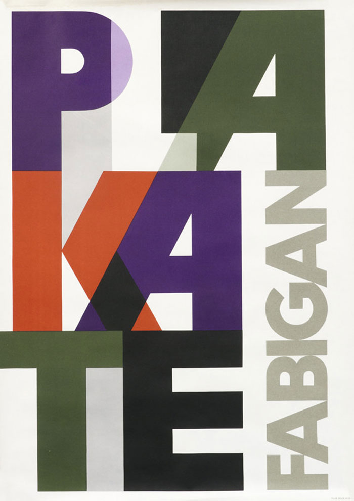 Poster with overlapping letters by Hans Fabigan