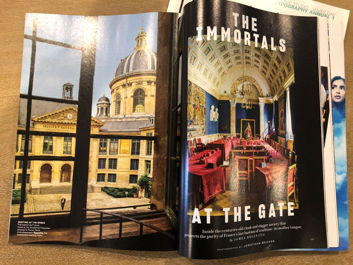 Article title spread from Vanity Fair (2 of 4)