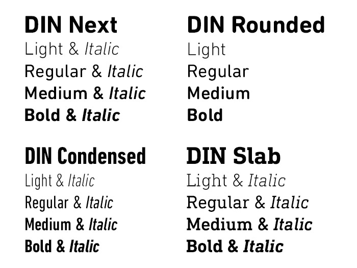 DIN typeface family