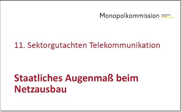 Monopolkommission stellt TK-Sondergutachten vor