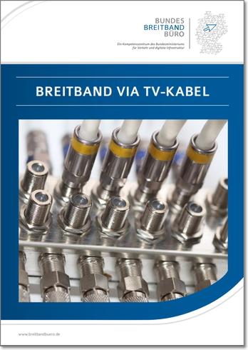 Broschüre: Breitband via TV-Kabel