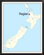 Map showing Raglan