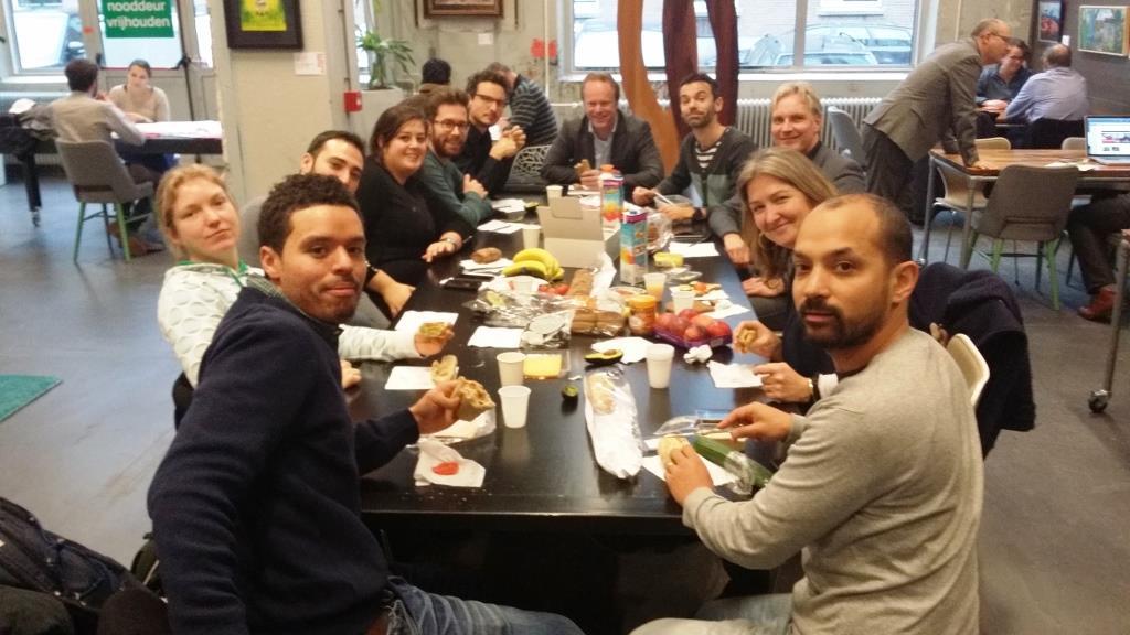 De groep van Startup in Residence