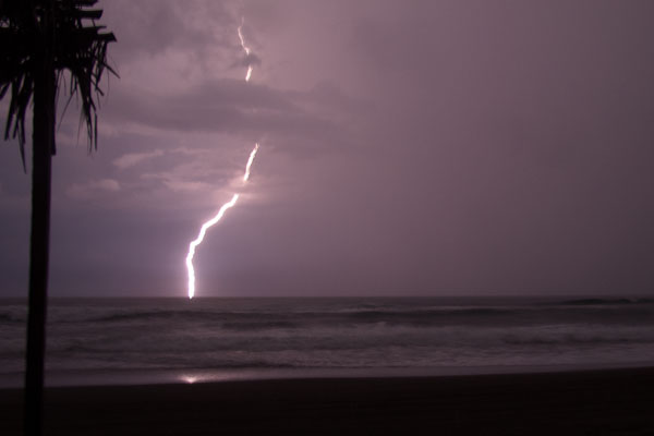 Lightening Storm On The Beach