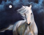 Moonsilver, Oil painting