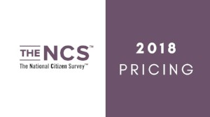The National Citizen Survey 2018 Pricing
