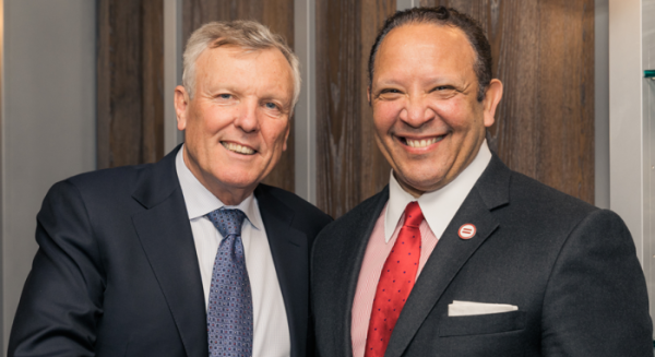 PHOTO: Charter CEO Tom Rutledge stands with Marc Morial, Chair of Charter's External Diversity and Inclusion Council, at the first meeting.