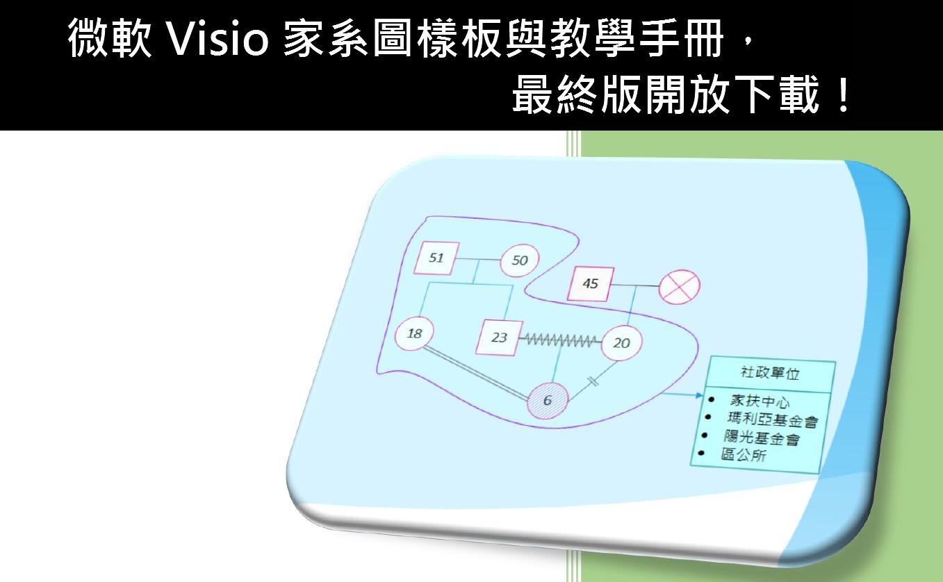 微軟 Visio 家系圖樣板與教學手冊,最終版開放下載!