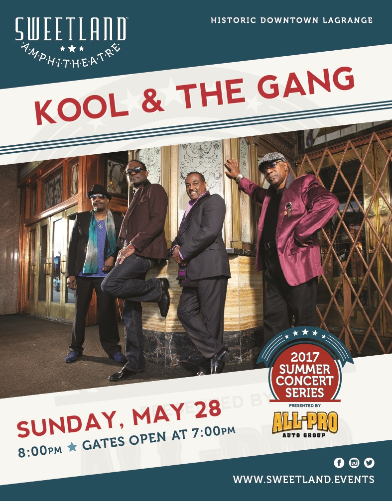 Tickets Released for Kool & the Gang!  Sweetland Amphitheatre at Boyd Park