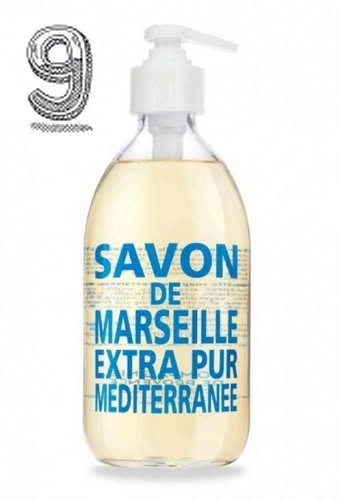 COMPAGNIE DE PROVENCE LIQUID MARSEILLE SOAP MEDITERRANEAN SEA 300ML - Made with natural glycerin using traditional cauldron method, this soap has a fresh and sunny fragrance composed of sea-breeze, floral, musky notes. It does not contain coloring agents, animal fats, nor surface-active agents.
