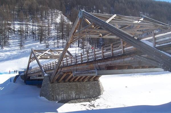 Skiwegbrücke, Langlaufstadion Pragelato