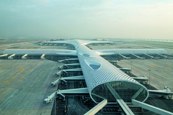 Shenzhen Bao'an Airport - Terminal 3 (photo: Knippers Helbig)