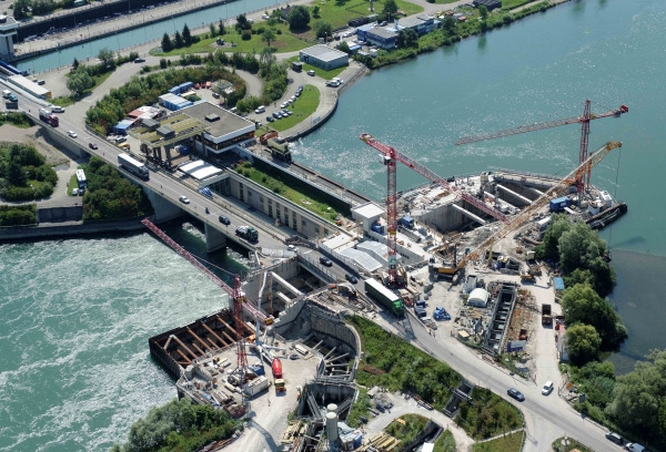 Expansion of the Iffezheim Power Plant (photo: Kempfert + Partner Geotechnik GmbH)
