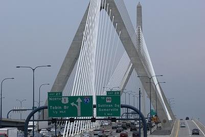 2003: Leonard P. Zakim Bunker Hill Brücke, USA