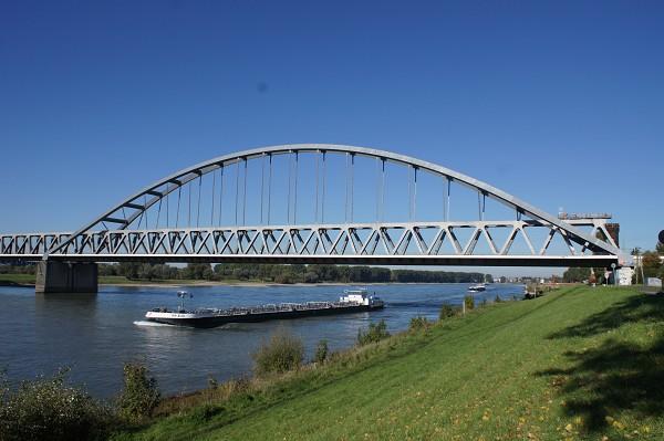 The Hamm Railroad bridge is both arch and truss bridge
