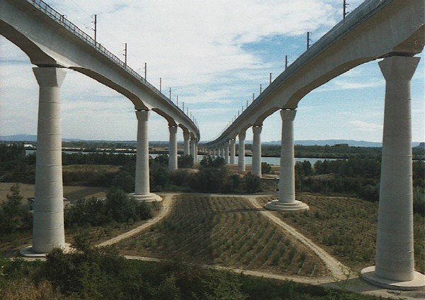 TGV viaducts at Avignon