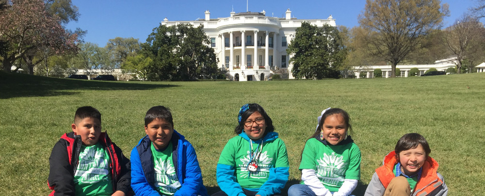Kemper Kids In Front of White House