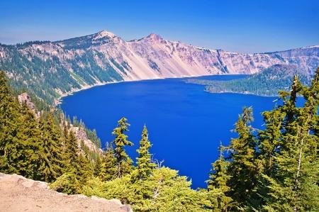 An awe-inspiring view of Crater Lake in Oregon.