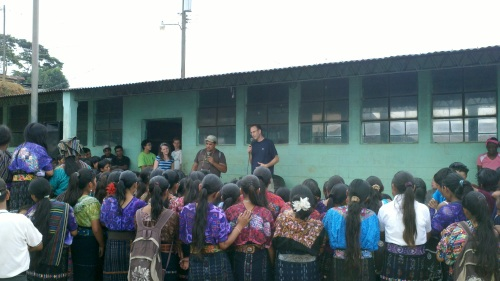 Pastor Lewis sharing in a Mayan village