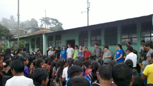 Youth leading worship