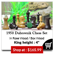 The Reproduction 1950 Dubrovnik Bobby Fischer Chess Set