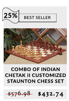 Combo of Indian Chetak II Customized Staunton Chess Set