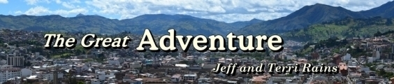 Header: Photo - Loja city with mountains in background; Title - The Great Adventure