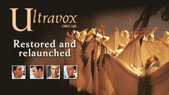 Ultravox.org.uk website restored and relaunched