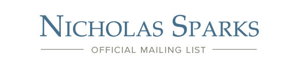 NIcholas Sparks Official Mailing List