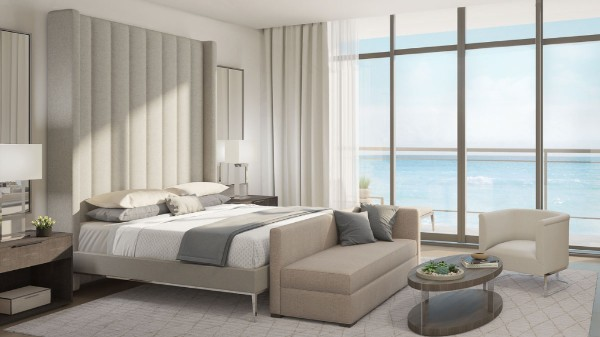 The Meridian boasts 10-foot ceilings and floor-to-ceiling glass.