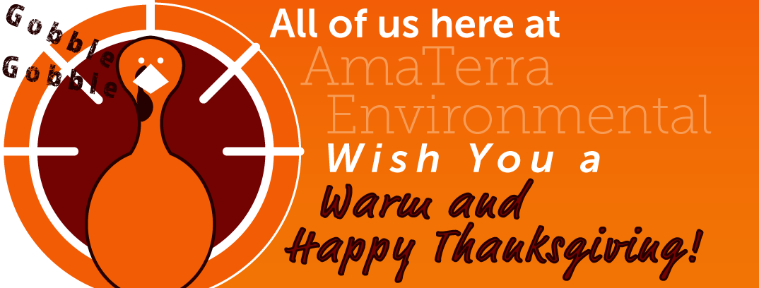 All of us here at AmaTerra Environmental wish you a Warm and Happy Thanksgiving!