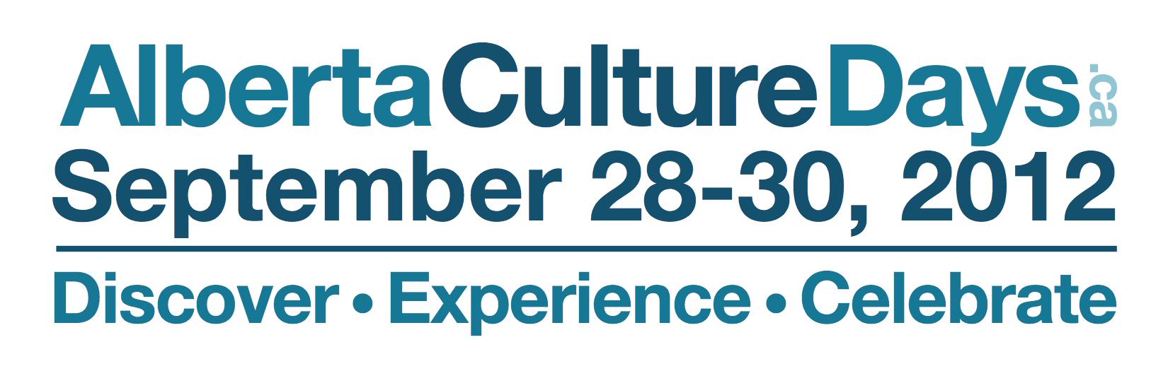 Alberta Culture Days ---  September 28 – 30, 2012