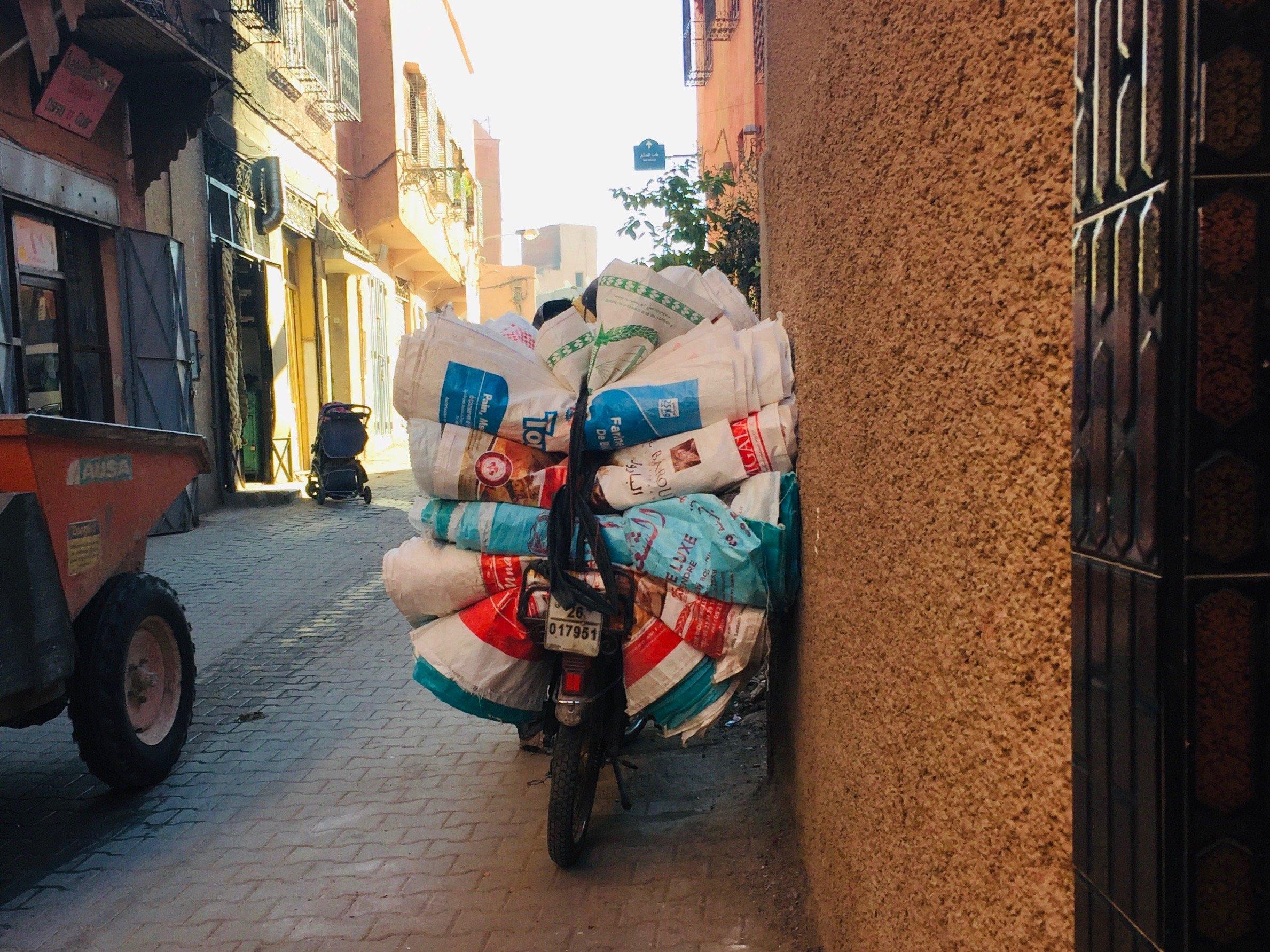 motorbike in Fes