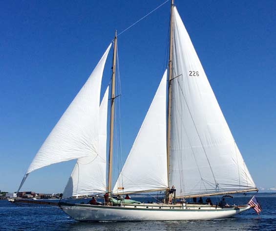 The Schooner Adventuress on opening day