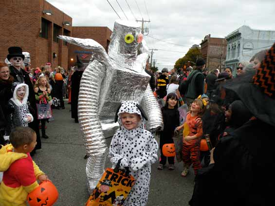 Downtown Halloween in Port Townsend