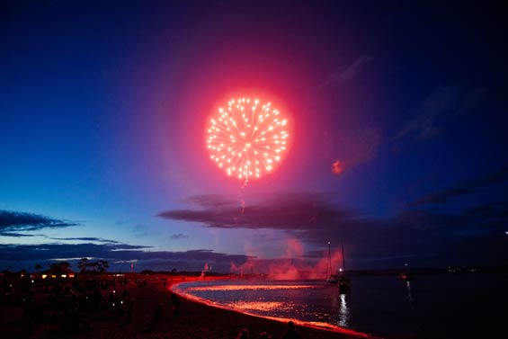 Fireworks at Fort Worden