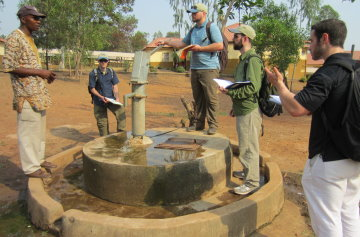 Civil Team Performing Hospital Water Assessment in Makeni