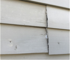 Failed Caulking On Wood Siding