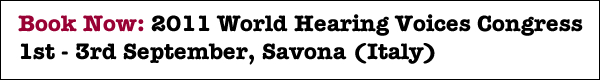 Book Now: 2011 World Hearing Voices Congress
