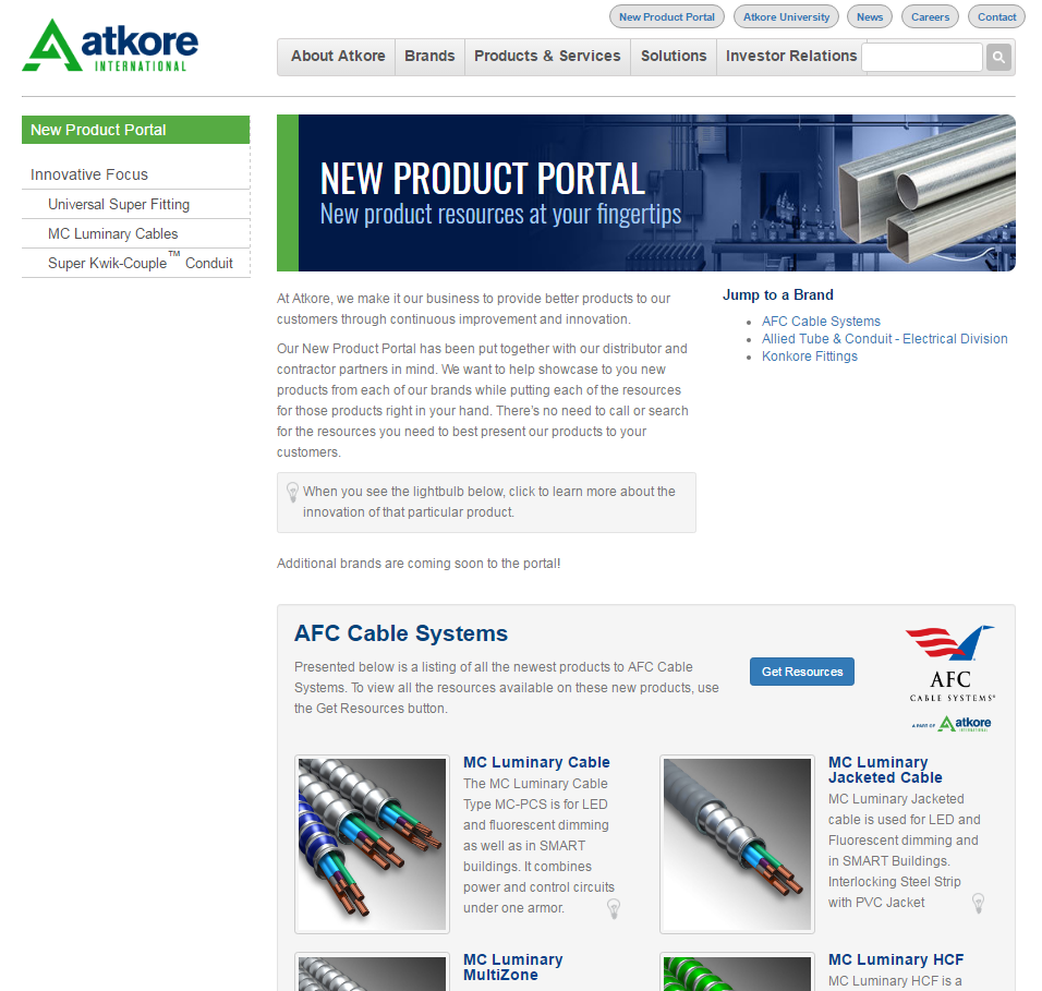 New Product Portal
