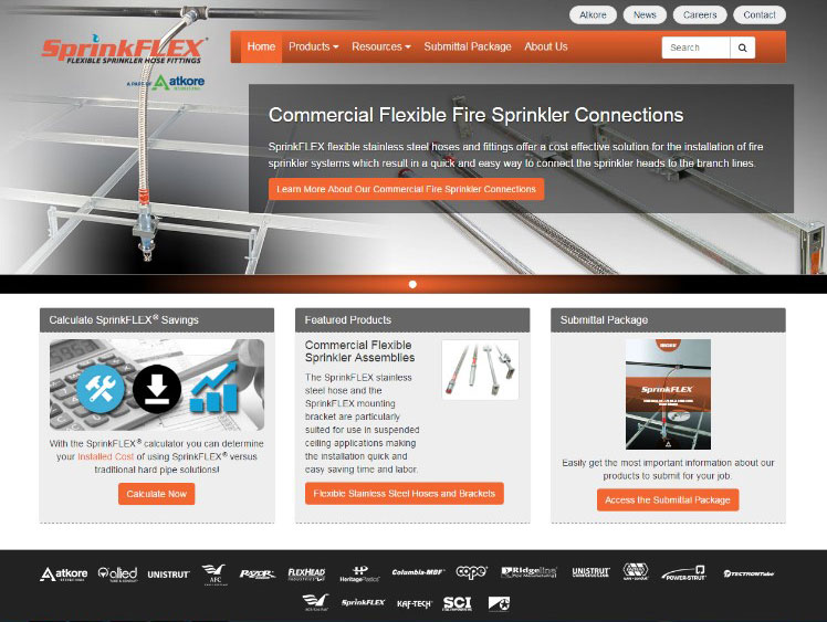 SprinkFLEX Website