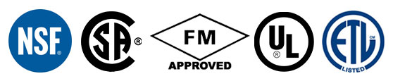 Atkore's Marks: NSF, CSA, FM Approved, UL, ETL