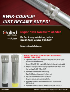 Super Kwik-Couple Conduit Sell Sheet