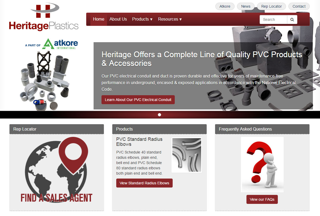 Heritage Plastics Website