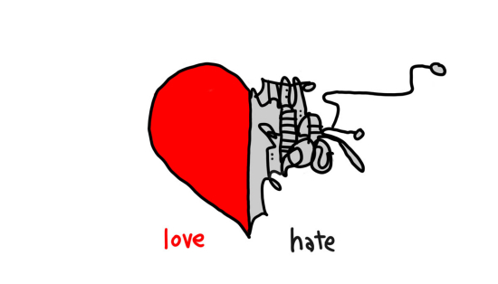 lovehate001Copy.1 - gapingvoid daily cartoon #5 - Love / Hate: Cool cartoon.