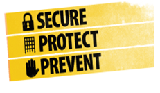 Secure, Protect, Prevent logo