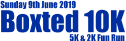 Sunday 9th June 2019. Boxted 10k, 5k and 2k fun run